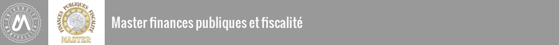 Master Finances publiques Logo